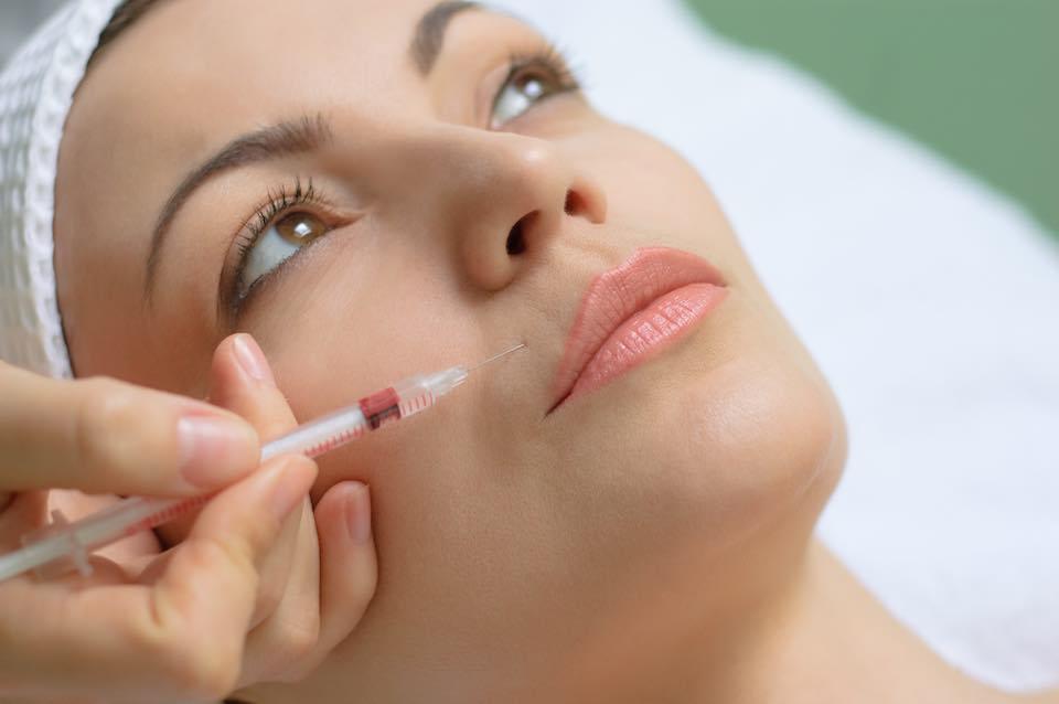 Botox kezelés arcon