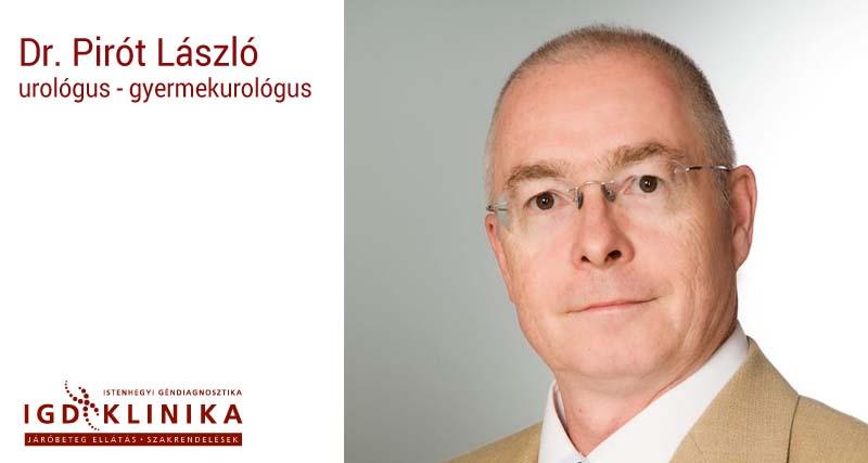 Dr. Pirót László urológus, gyermekurológus